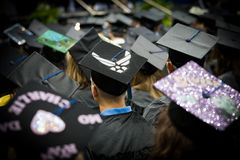Air Force Member at University Graduation Royalty Free Stock Image