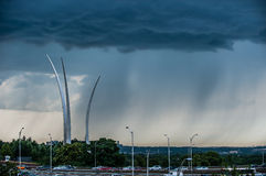 Air Force Memorial strom Stock Photography