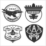 Air Force military emblem set vector design template Royalty Free Stock Photos