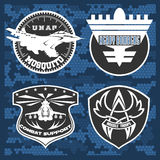 Air Force military emblem set vector design template Stock Photo