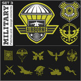 Air Force military emblem set vector design template Royalty Free Stock Photography