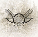 Air force military symbol. On grunge background Royalty Free Stock Photo
