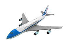 Air Force One изолировало Стоковое Изображение