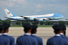 Air Force One. Lands at Don Muang International Airport as US President Barack Obama begins a historic tour of Southeast Asia on November 18, 2012 in Bangkok Royalty Free Stock Photography