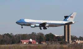 Air Force One chega em Charleston, SC Fotografia de Stock Royalty Free