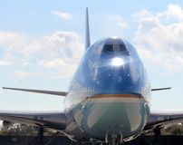 Air Force One cheira em JFK New York City internacional, New York Imagem de Stock