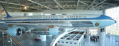 Air Force One, cola 27000 Fotos de archivo libres de regalías