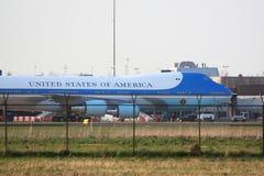 Air Force One dietro il recinto Fotografia Stock