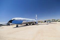 Air Force One in einer Luft und in Weltraummuseum Pima Stockbild