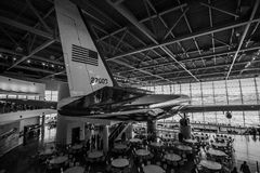 Air Force One em Ronald Reagan Presidential Library Foto de Stock Royalty Free