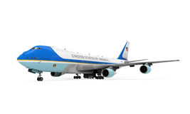 Air Force One Isolated. On white background. 3D render Stock Image