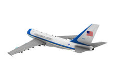 Air Force One Isolated. On white background. 3D render Royalty Free Stock Photos