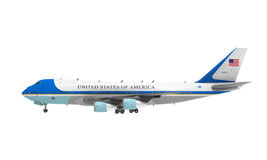 Air Force One isolerade Royaltyfri Bild