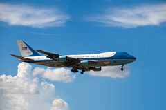 Air Force One lands in Miami Royalty Free Stock Images