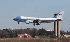 Air Force One llega en Charleston, SC fotografía de archivo libre de regalías