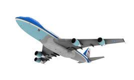 Air Force One lokalisierte Lizenzfreie Stockbilder