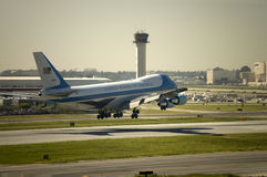 Air Force One in Long Beach, CA stock image