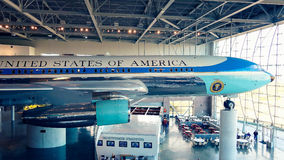 Air Force One na exposição em Ronald Reagan Presidential Libra Foto de Stock Royalty Free