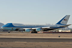 Air Force One op het tarmac Stock Foto's