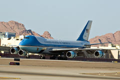 Air Force One sur le macadam Photos libres de droits