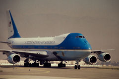 Air Force One. Air Force One on the tarmac. (Image taken from Color slide Royalty Free Stock Image