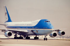 Air Force One. Air Force One on the tarmac. (Image taken from color slide Stock Images