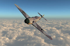 Air Force Plane. This image shows a german messerschmitt air force plane from 2. world war Royalty Free Stock Photography