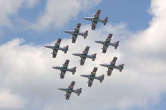 Air force planes. Photo of a planes from the Dutch air force royalty free stock photo