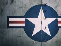 Air Force Roundel. Fighter plane detail stock photography