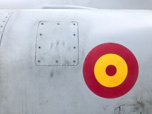 Air Force Roundel. Fighter plane detail. Spanish aviation royalty free stock photography