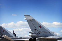 Air Force Russia Royalty Free Stock Photo