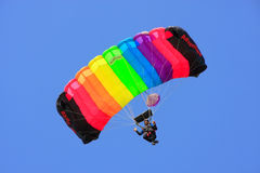 Air force soldier skydiving at Desert festival in Jaisalmer, Ind Stock Photo