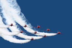 Air Force stunt team. Nice formation flying of a stunt team Royalty Free Stock Photography