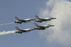 Air Force Thunderbirds. The Airforce Thunderbirds performing at a show Stock Photos