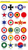 Air forces in the world emblems Stock Images