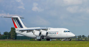 Air France με το αεριωθούμενο αεροπλάνο πόλεων Στοκ φωτογραφίες με δικαίωμα ελεύθερης χρήσης