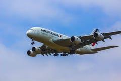 Air France A380 Aerobus Zdjęcia Stock