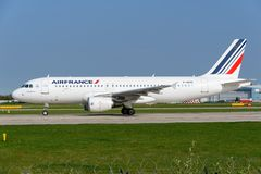 Air France Airbus A320 Fotografia de Stock Royalty Free