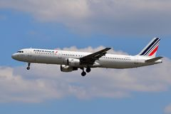 Air France Airbus A321 imagens de stock royalty free