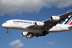 Air France Airbus A-380 Foto de Stock Royalty Free