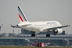 Air France Airbus A318 Imagem de Stock Royalty Free