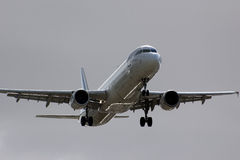 Air France Airbus A321 airplane landing Stock Image