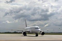 Air France Airbus A319 Aircraft model. An Air France Airbus A319 Aircraft can be seen at Henri Coanda International Airport, in Otopeni, Romania Stock Photos