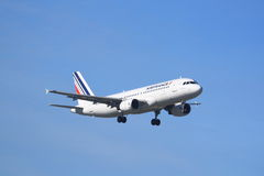 Air France Airbus A320. An Air France Airbus A320 on final approach Stock Photography