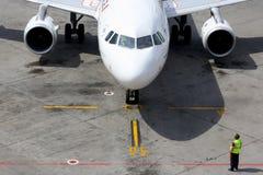 Air France Airbus A320 an internationalem Flughafen Sheremetyevo Stockbilder
