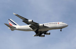 Air France Boeing 747 jumbo jet Royalty Free Stock Photo