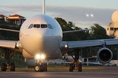 Air France förbereder sig för tagandet-av  Arkivfoto