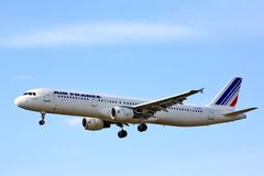 Air France flygbuss A321 Royaltyfria Bilder