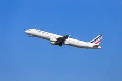 Air France flygbuss A321 Royaltyfria Bilder