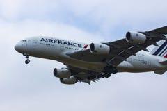 Air France flygbuss A380 arkivfoton